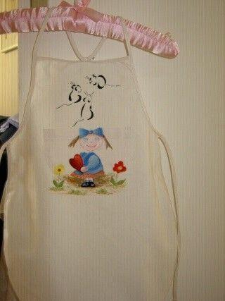 Peinture sur tissu for Patron tablier cuisine enfant
